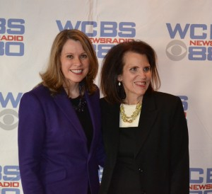 Adria Gross and Pat Carroll at WCBS awards